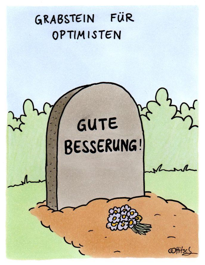Grabstein für Optimisten